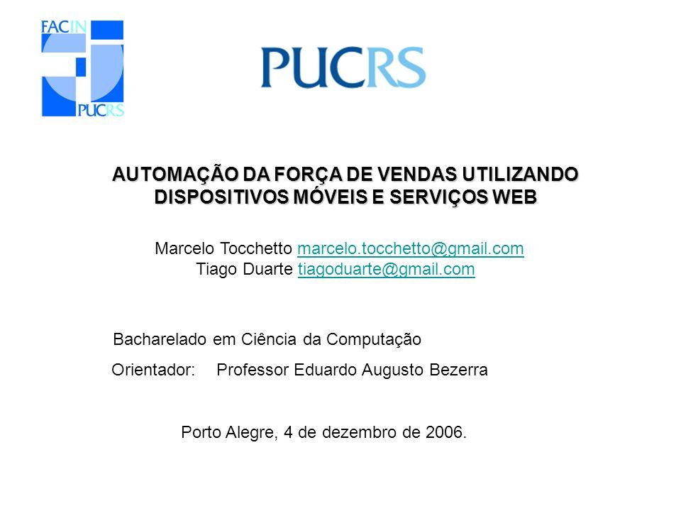 AUTOMAÇÃO DA FORÇA DE VENDAS UTILIZANDO DISPOSITIVOS MÓVEIS E SERVIÇOS WEB