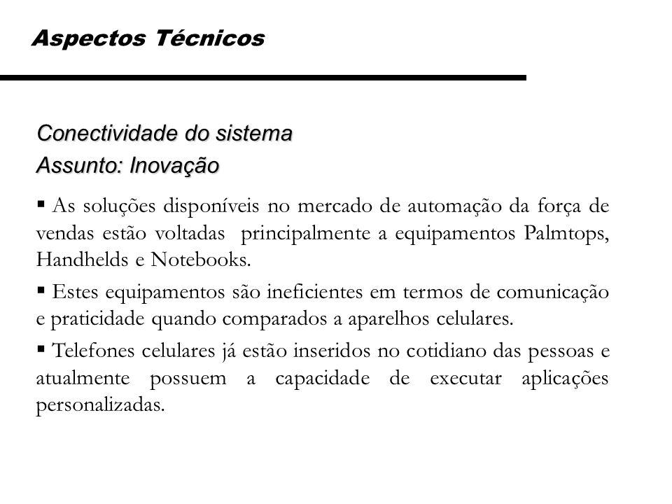 Aspectos Técnicos Conectividade do sistema. Assunto: Inovação.