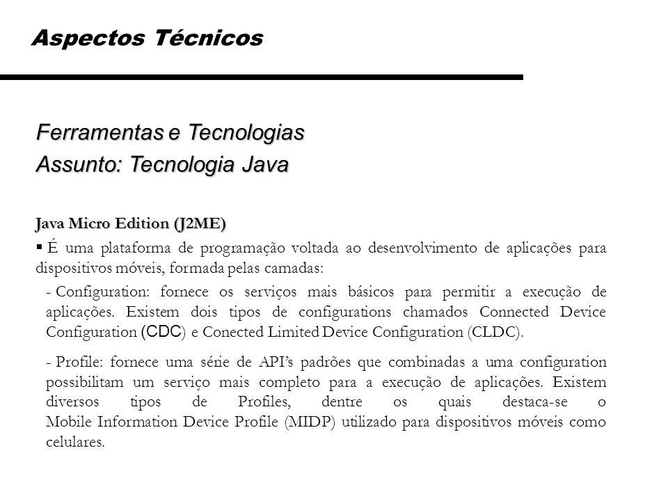 Ferramentas e Tecnologias Assunto: Tecnologia Java