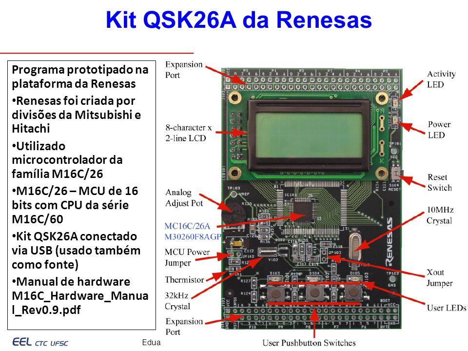 Kit QSK26A da Renesas Programa prototipado na plataforma da Renesas