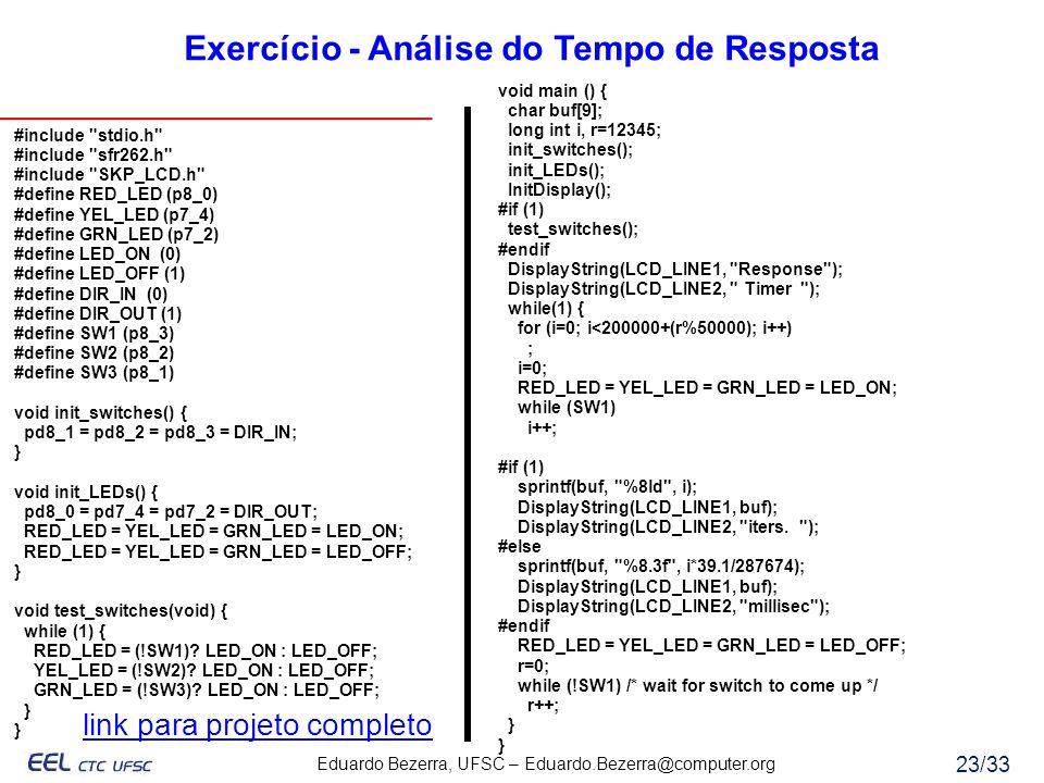 Exercício - Análise do Tempo de Resposta