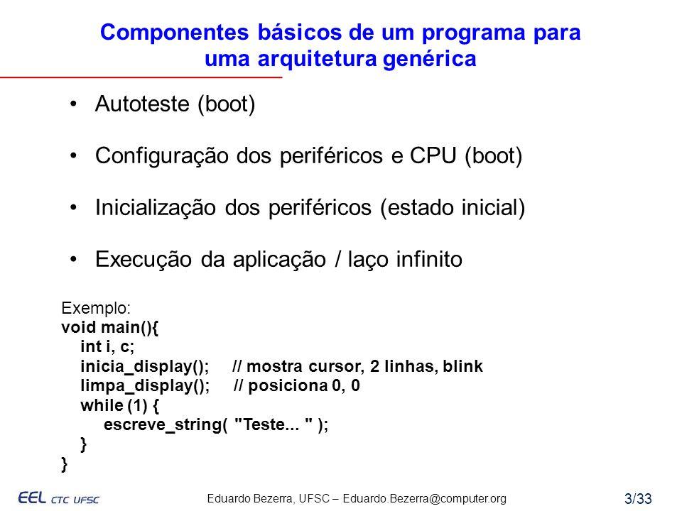 Componentes básicos de um programa para uma arquitetura genérica