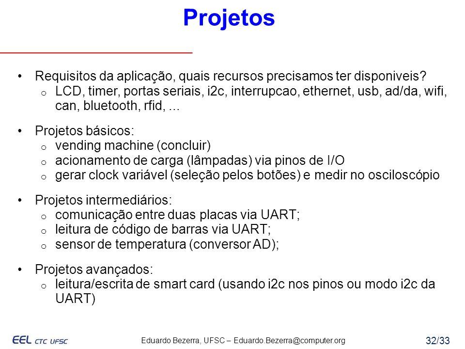 Projetos Requisitos da aplicação, quais recursos precisamos ter disponiveis