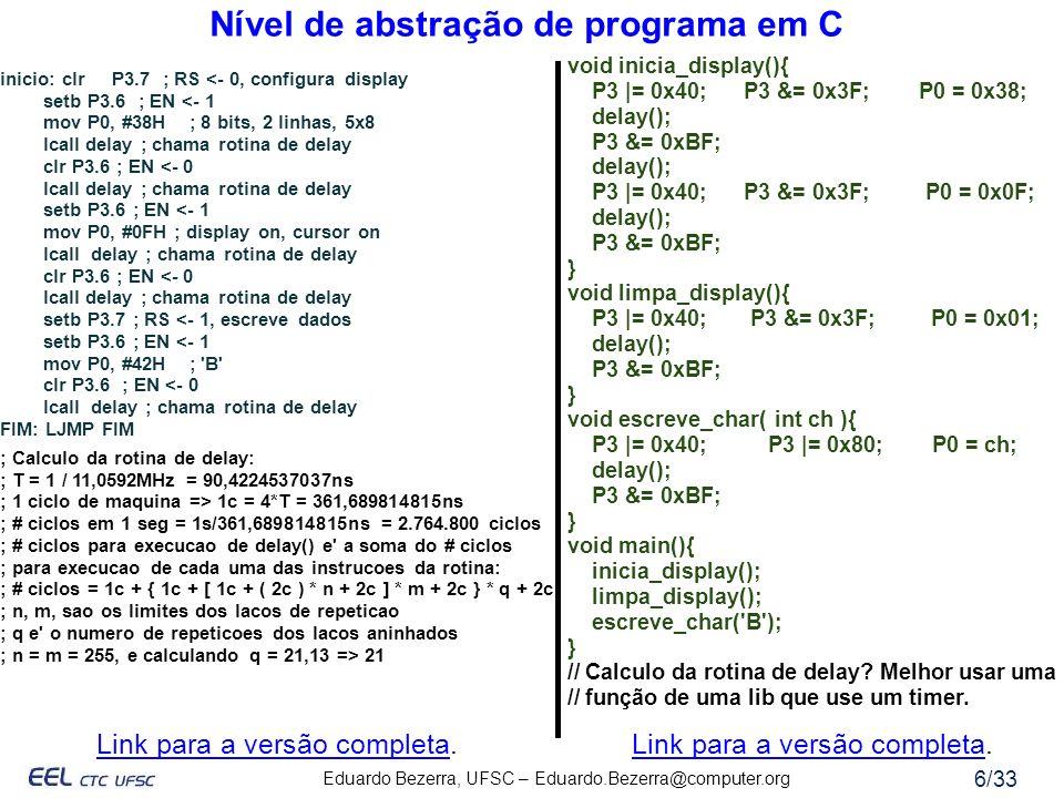 Nível de abstração de programa em C