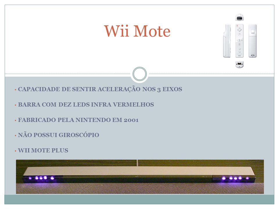 Wii Mote CAPACIDADE DE SENTIR ACELERAÇÃO NOS 3 EIXOS