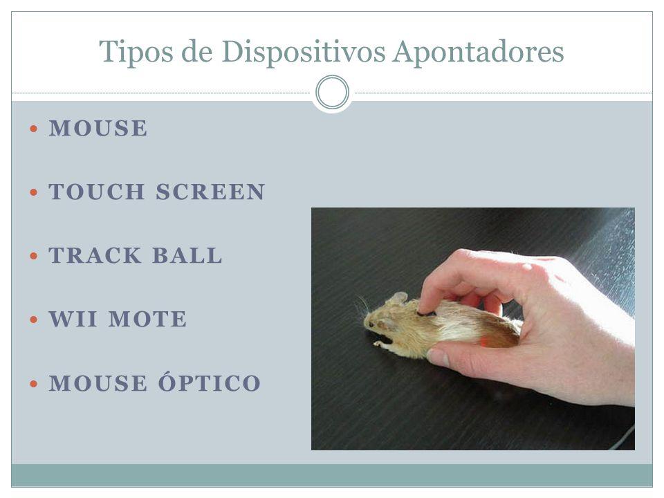 Tipos de Dispositivos Apontadores
