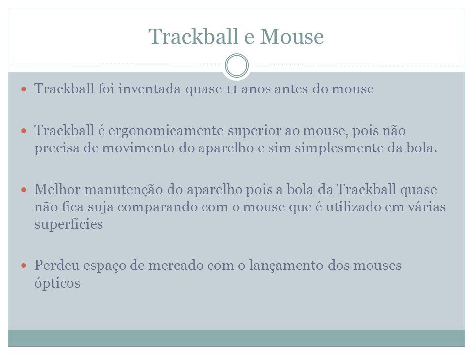 Trackball e Mouse Trackball foi inventada quase 11 anos antes do mouse