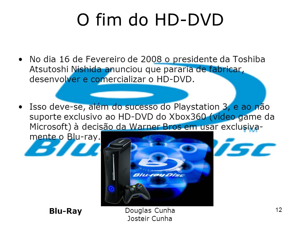 O fim do HD-DVD