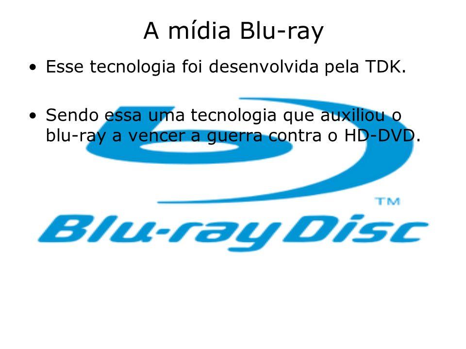 A mídia Blu-ray Esse tecnologia foi desenvolvida pela TDK.