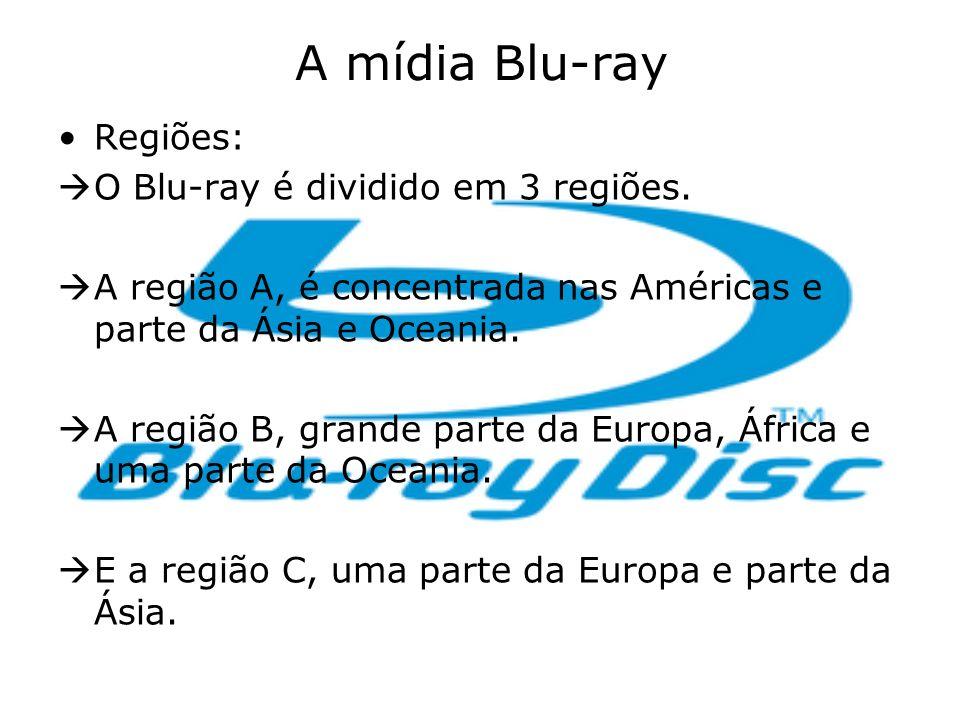 A mídia Blu-ray Regiões: O Blu-ray é dividido em 3 regiões.