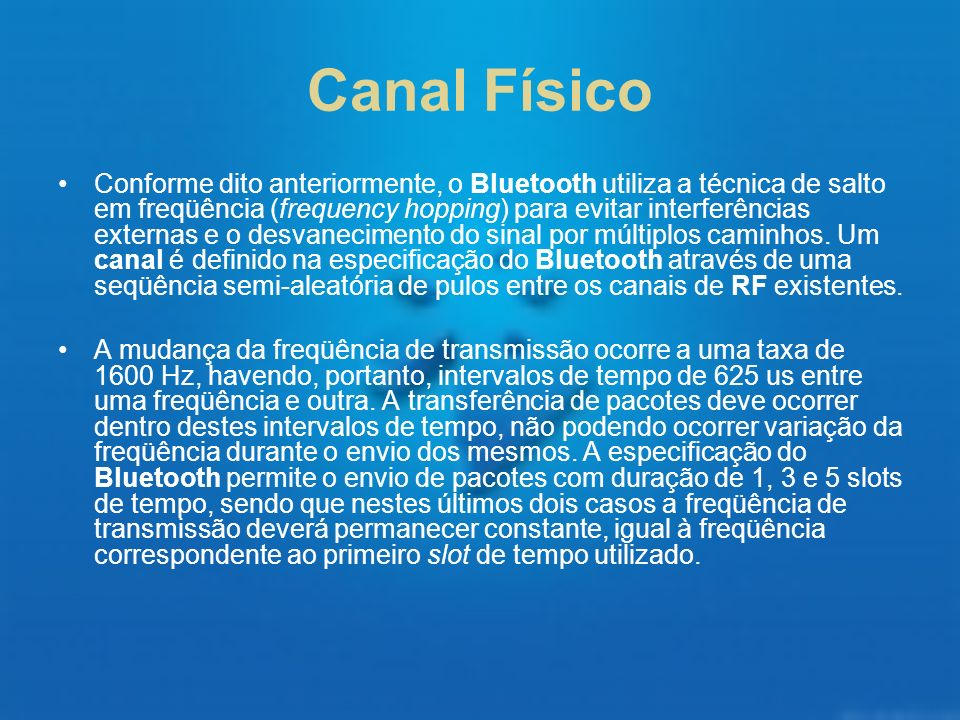 Canal Físico