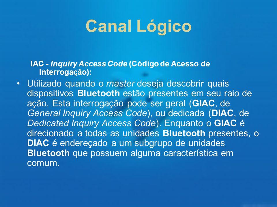 Canal Lógico IAC - Inquiry Access Code (Código de Acesso de Interrogação):