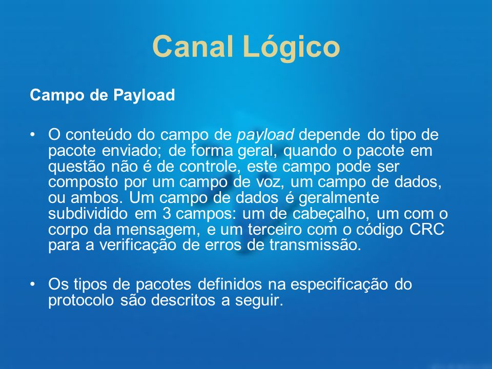 Canal Lógico Campo de Payload
