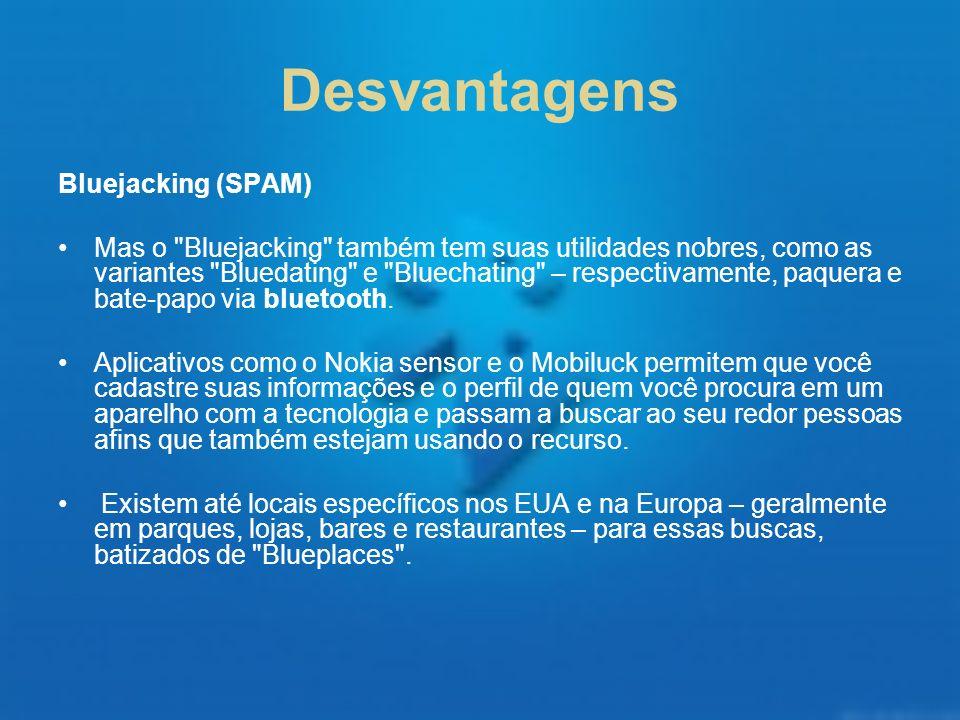 Desvantagens Bluejacking (SPAM)