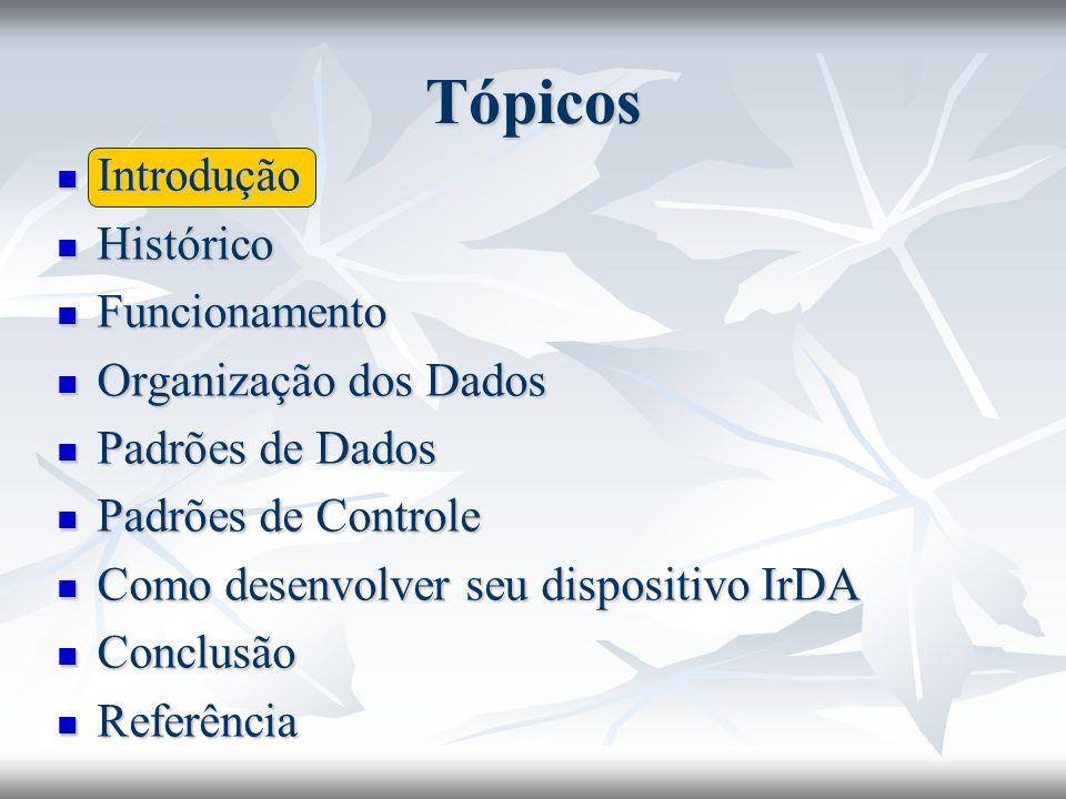 Tópicos Introdução Histórico Funcionamento Organização dos Dados