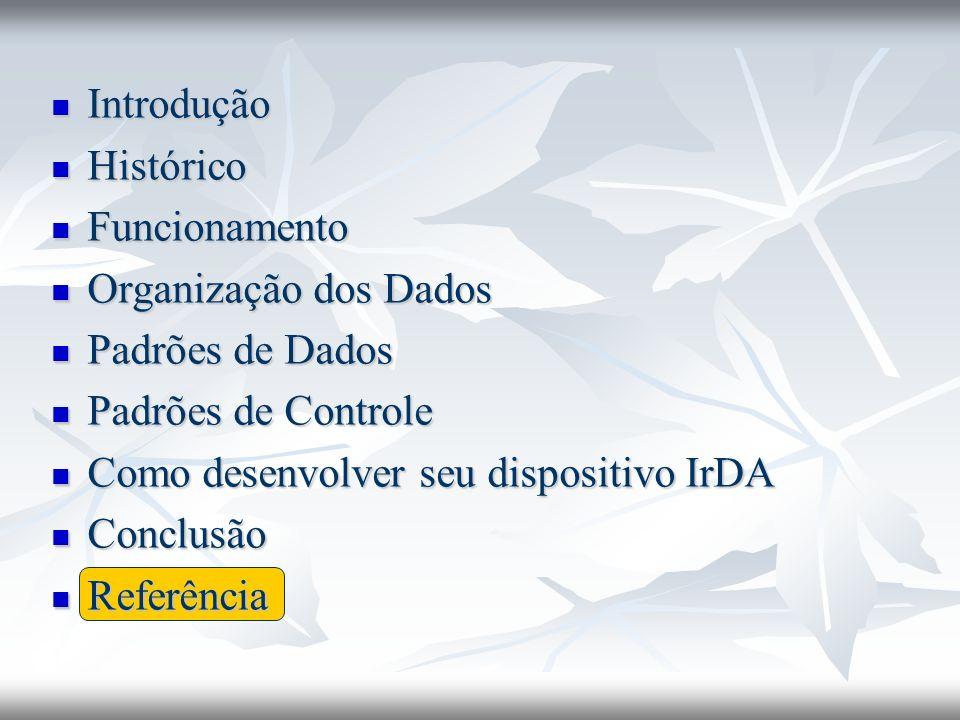 Introdução Histórico. Funcionamento. Organização dos Dados. Padrões de Dados. Padrões de Controle.