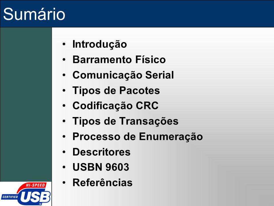 Sumário Introdução Barramento Físico Comunicação Serial