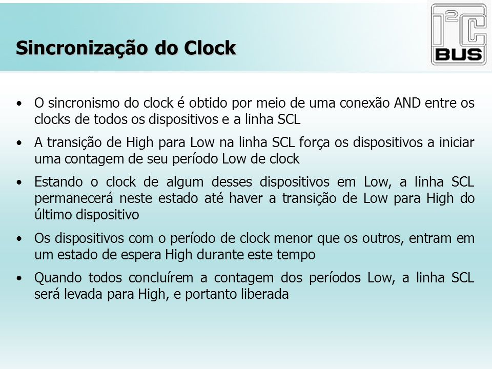 Sincronização do Clock