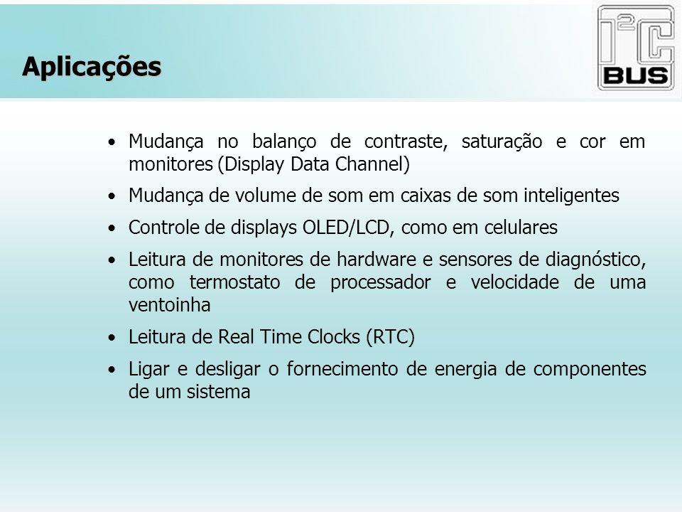 Aplicações Mudança no balanço de contraste, saturação e cor em monitores (Display Data Channel)
