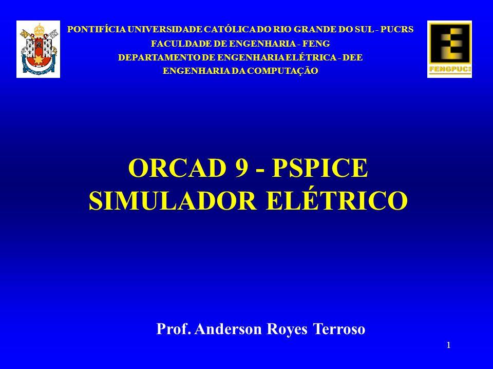 ORCAD 9 - PSPICE SIMULADOR ELÉTRICO