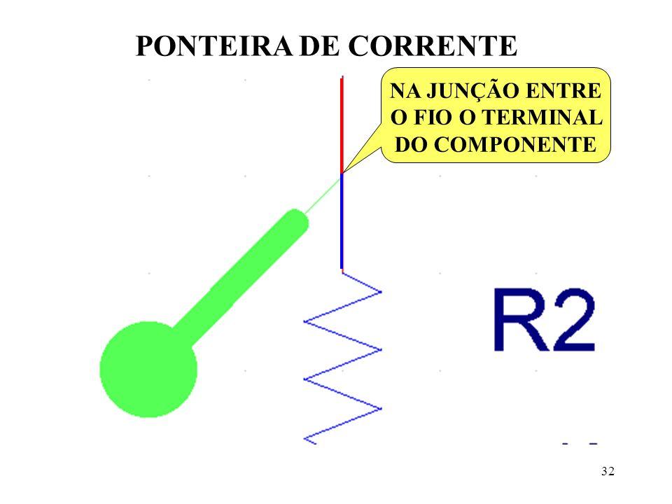 PONTEIRA DE CORRENTE NA JUNÇÃO ENTRE O FIO O TERMINAL DO COMPONENTE