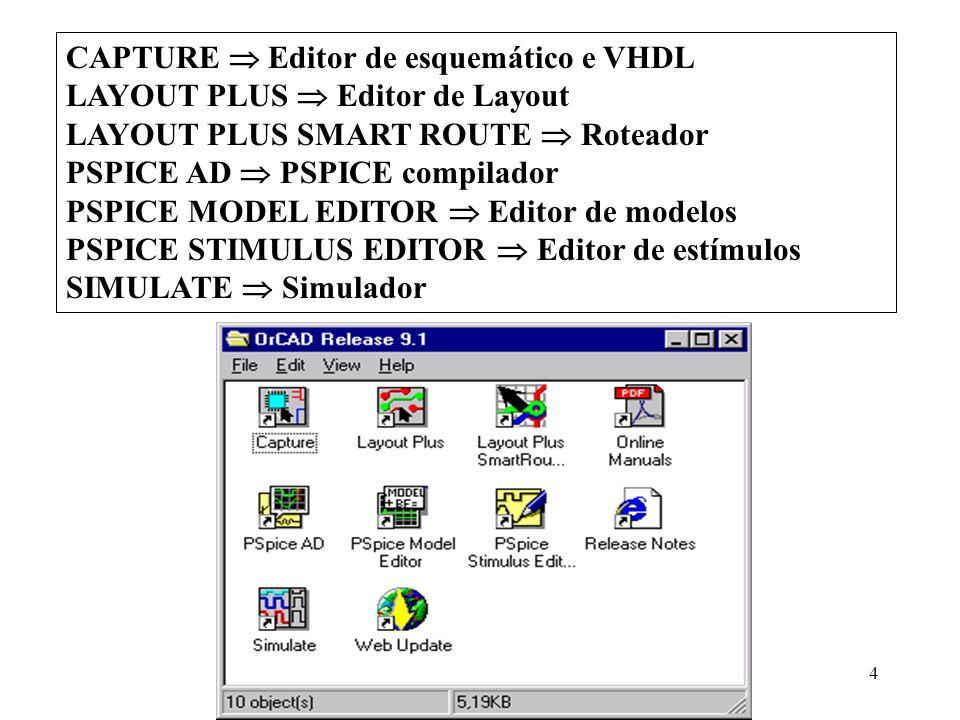 CAPTURE  Editor de esquemático e VHDL
