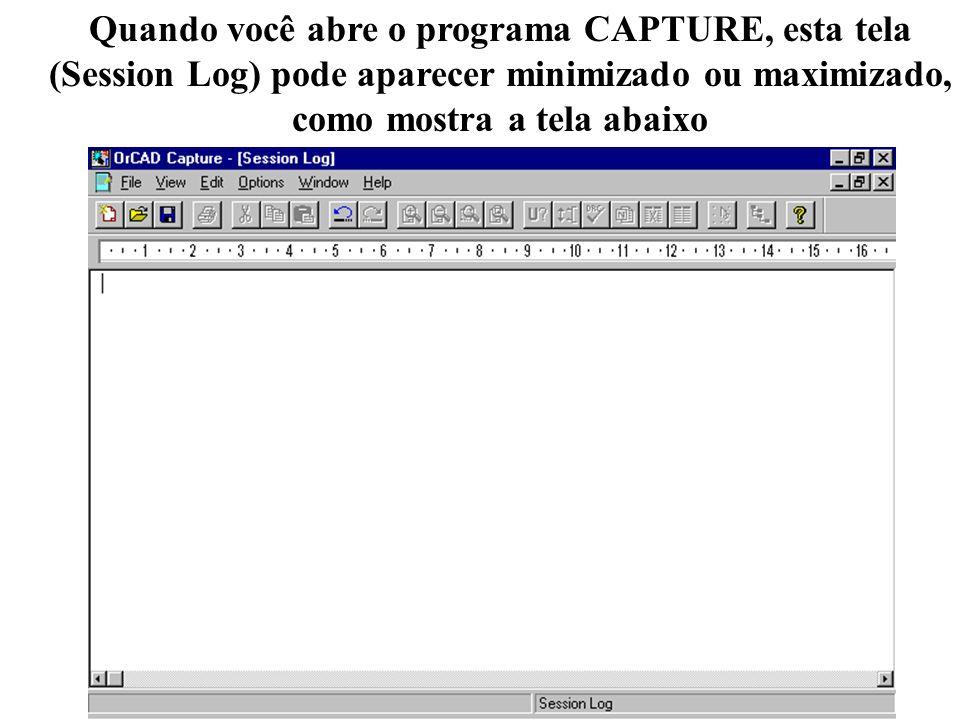 Quando você abre o programa CAPTURE, esta tela
