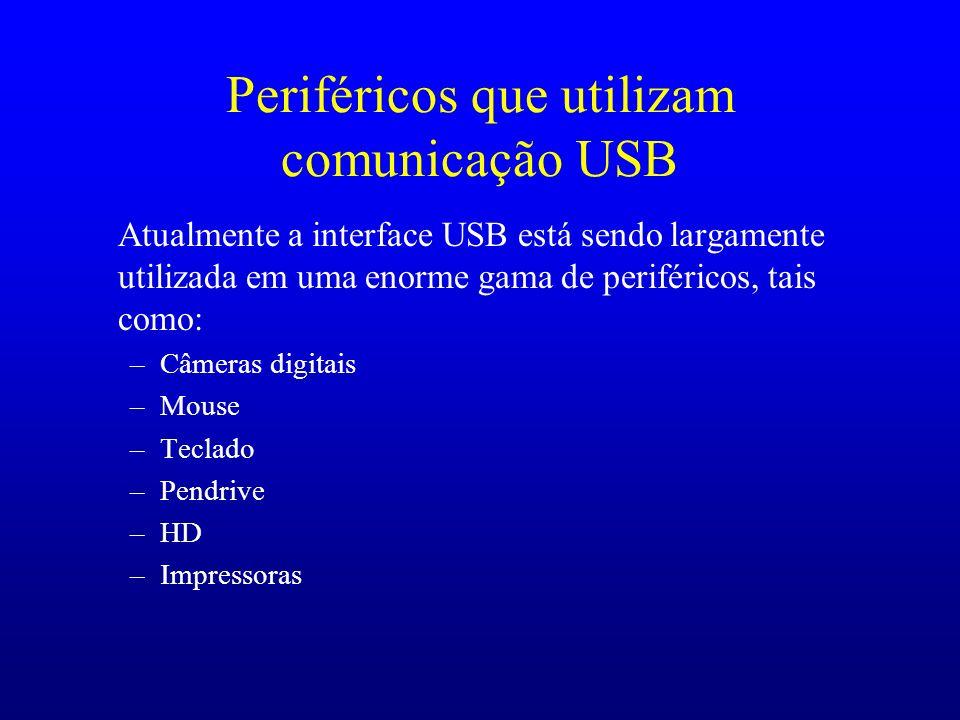 Periféricos que utilizam comunicação USB