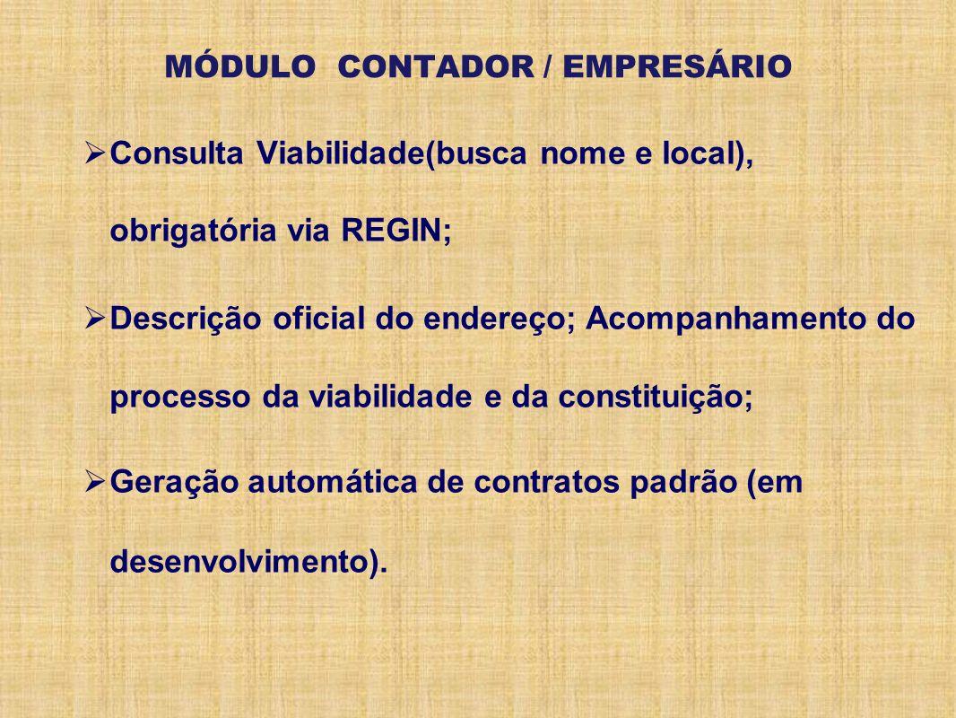 MÓDULO CONTADOR / EMPRESÁRIO