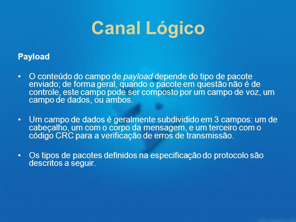Canal Lógico Payload.