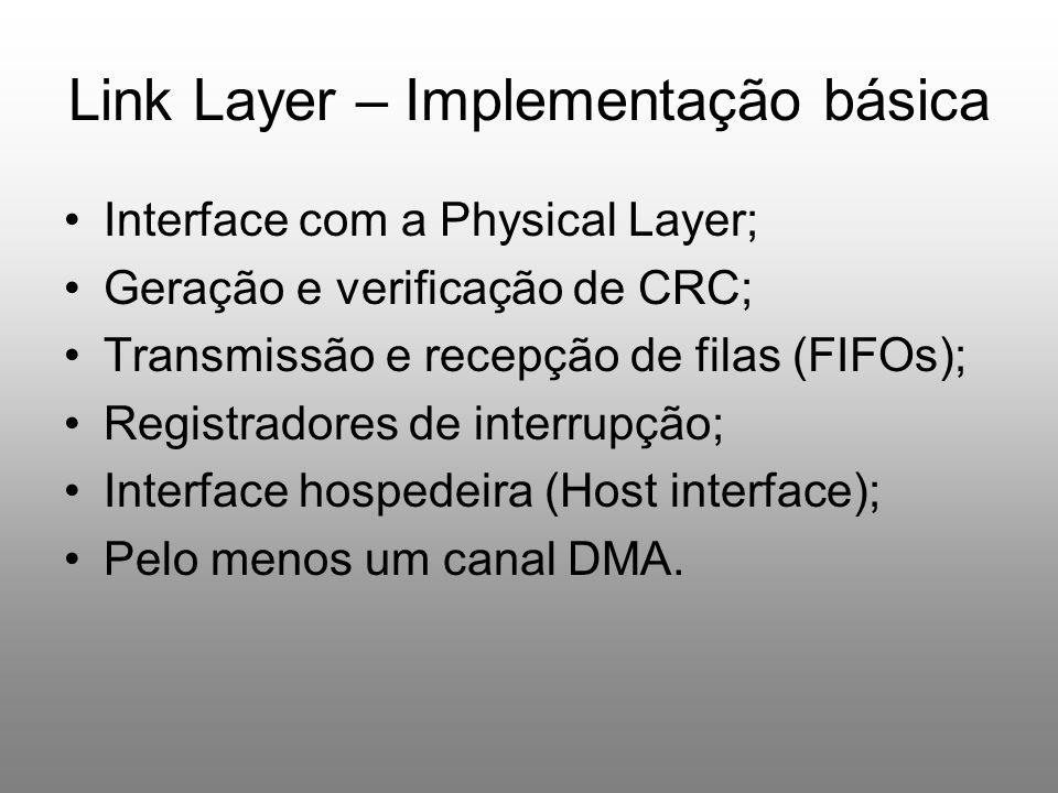 Link Layer – Implementação básica