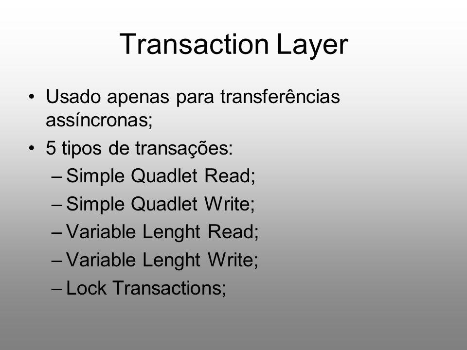 Transaction Layer Usado apenas para transferências assíncronas;