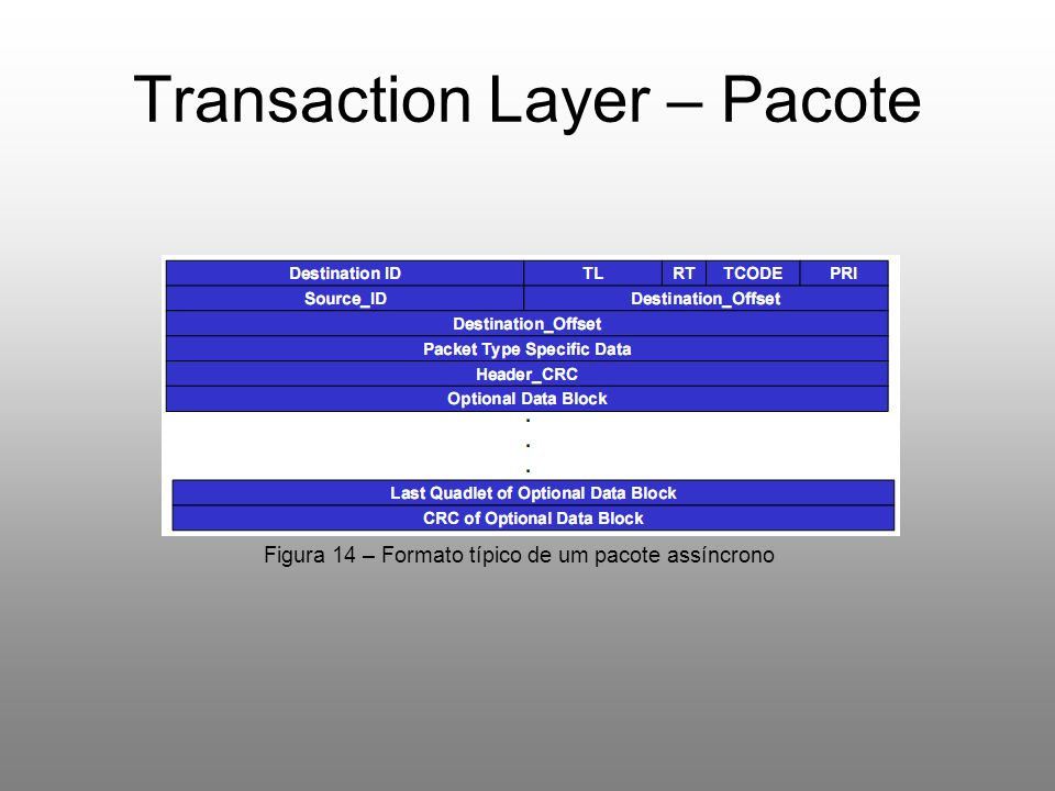 Transaction Layer – Pacote
