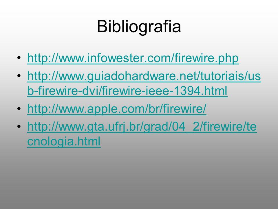 Bibliografia http://www.infowester.com/firewire.php