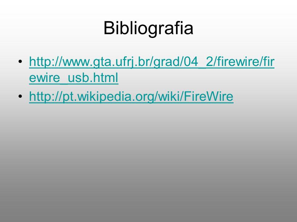 Bibliografia http://www.gta.ufrj.br/grad/04_2/firewire/firewire_usb.html.