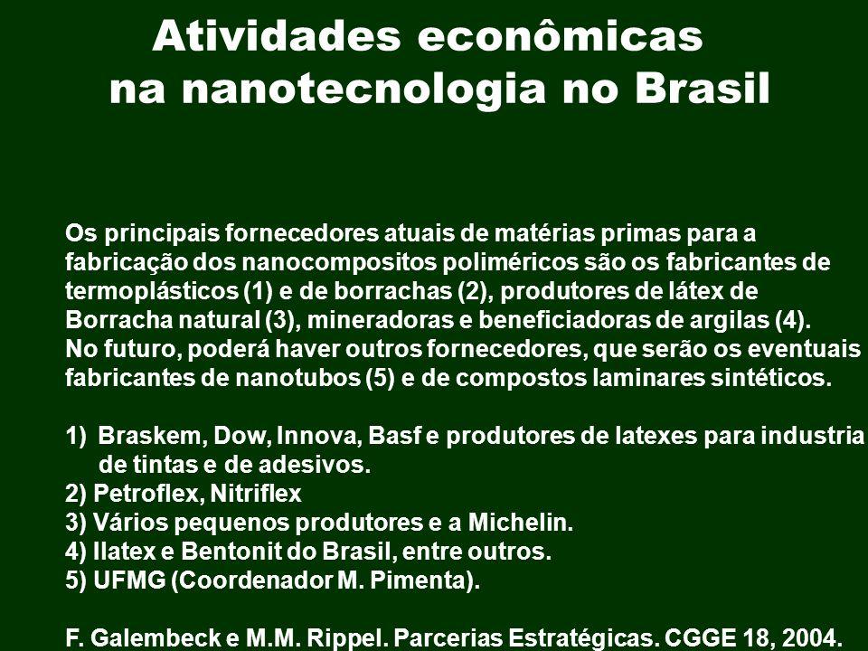 Atividades econômicas na nanotecnologia no Brasil