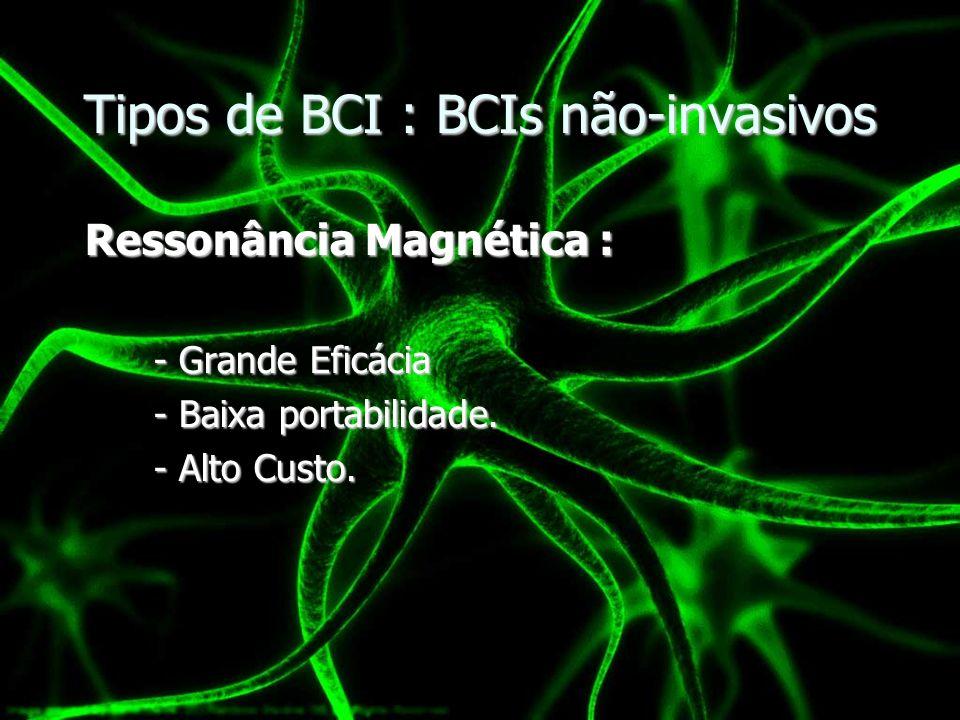 Tipos de BCI : BCIs não-invasivos