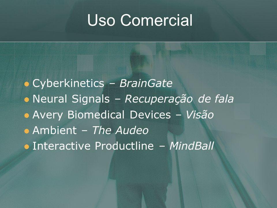 Uso Comercial Cyberkinetics – BrainGate