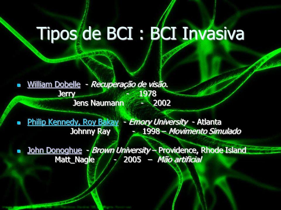 Tipos de BCI : BCI Invasiva