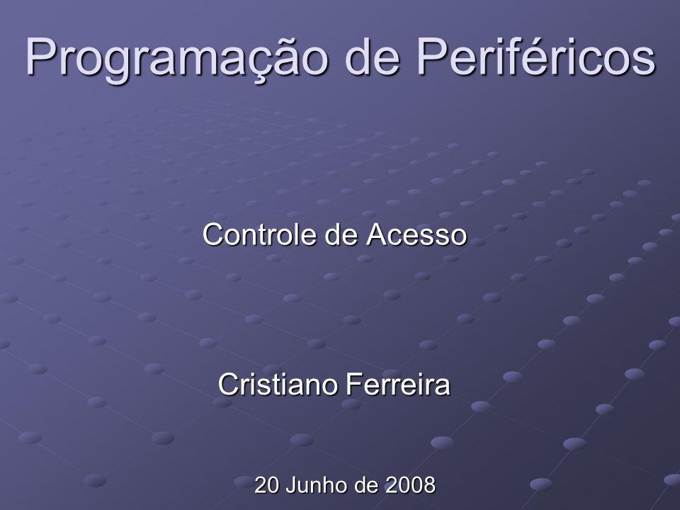 Programação de Periféricos