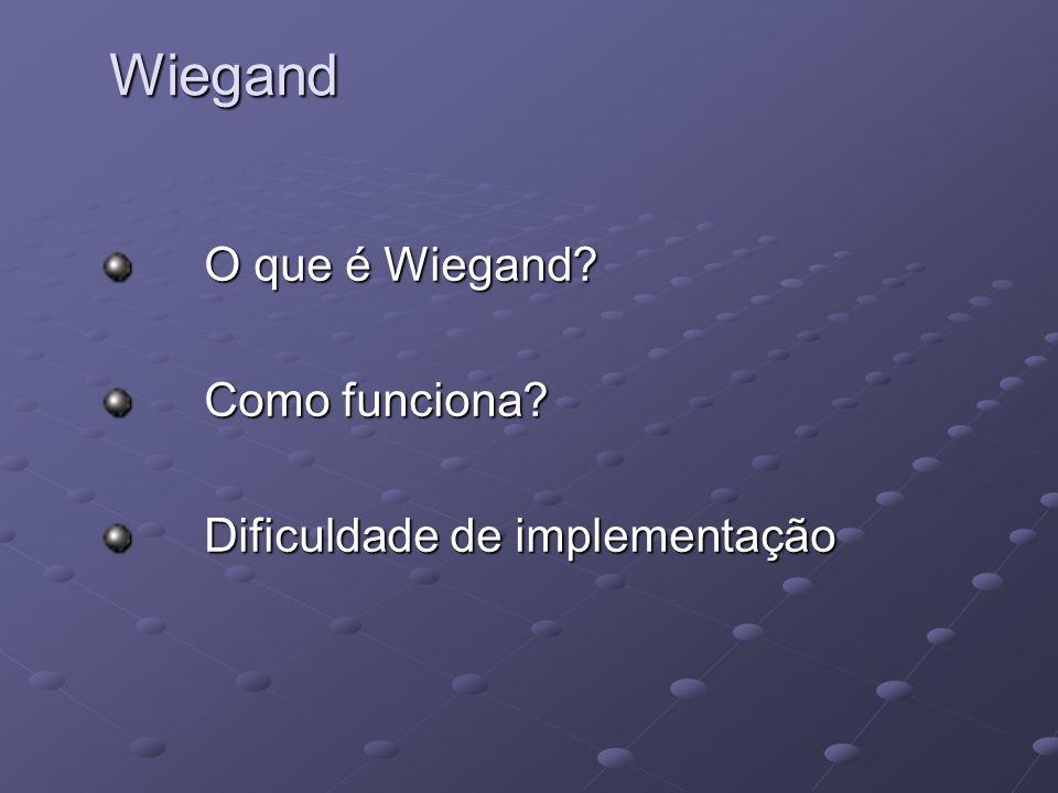 O que é Wiegand Como funciona Dificuldade de implementação