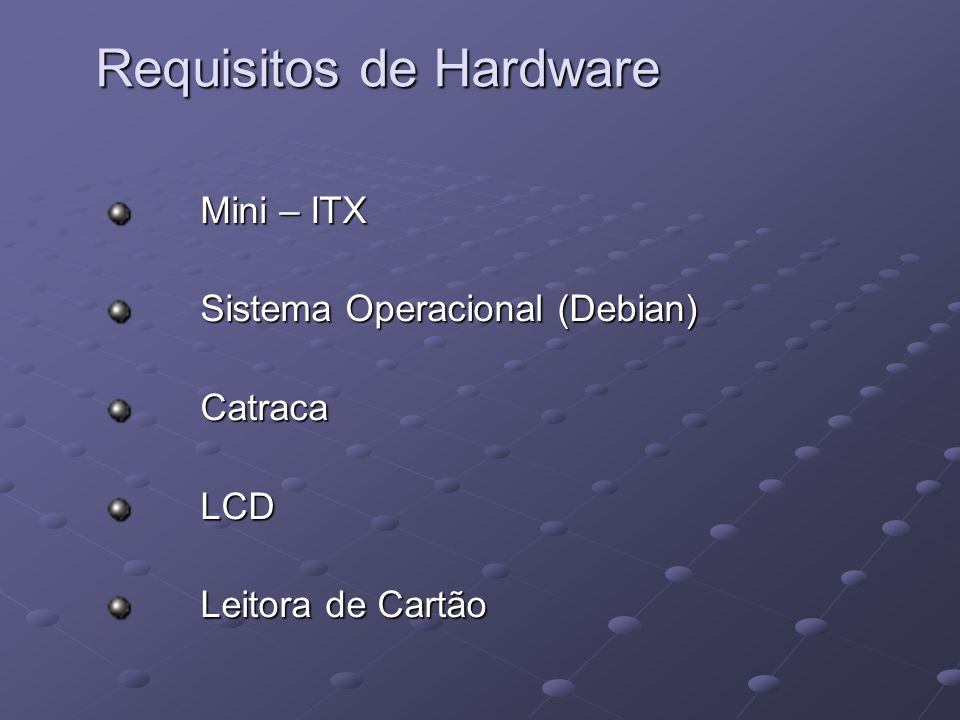 Requisitos de Hardware