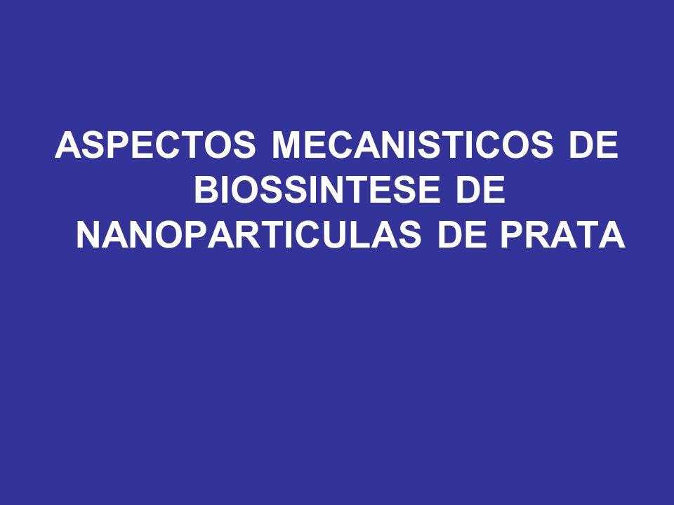 ASPECTOS MECANISTICOS DE BIOSSINTESE DE NANOPARTICULAS DE PRATA