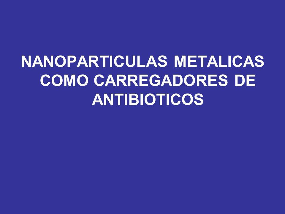 NANOPARTICULAS METALICAS COMO CARREGADORES DE ANTIBIOTICOS
