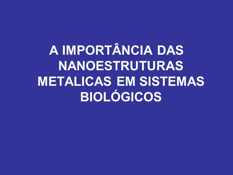 A IMPORTÂNCIA DAS NANOESTRUTURAS METALICAS EM SISTEMAS BIOLÓGICOS