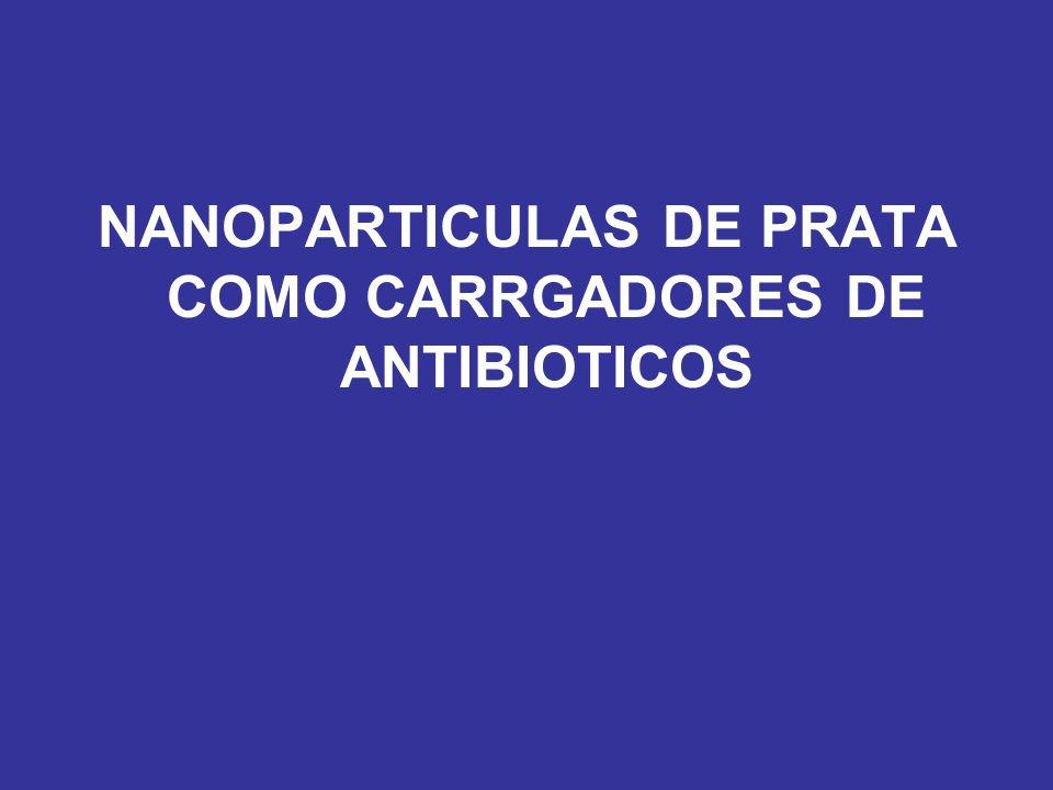 NANOPARTICULAS DE PRATA COMO CARRGADORES DE ANTIBIOTICOS