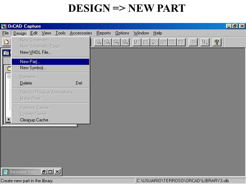 DESIGN => NEW PART