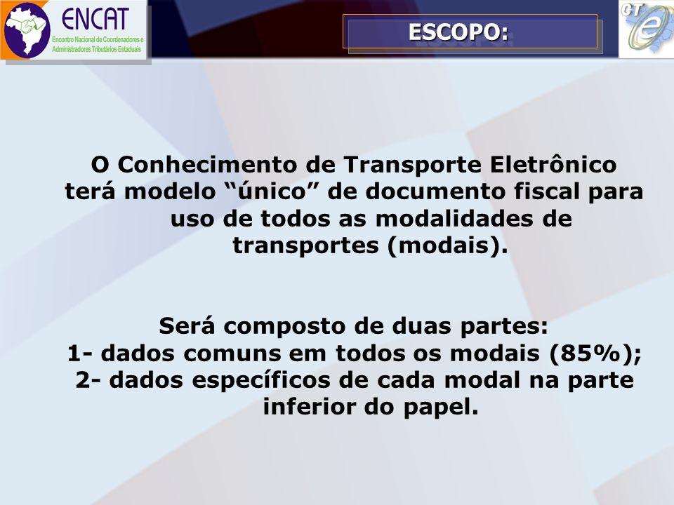 O Conhecimento de Transporte Eletrônico