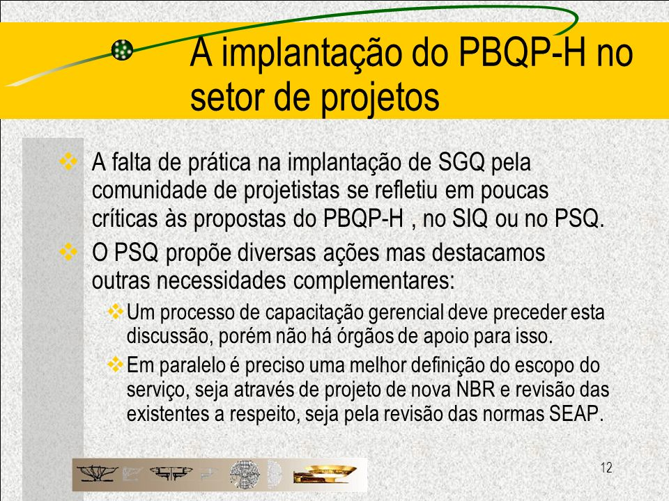 A implantação do PBQP-H no setor de projetos