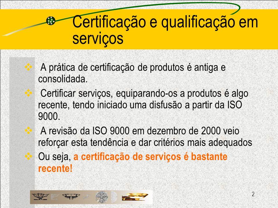 Certificação e qualificação em serviços